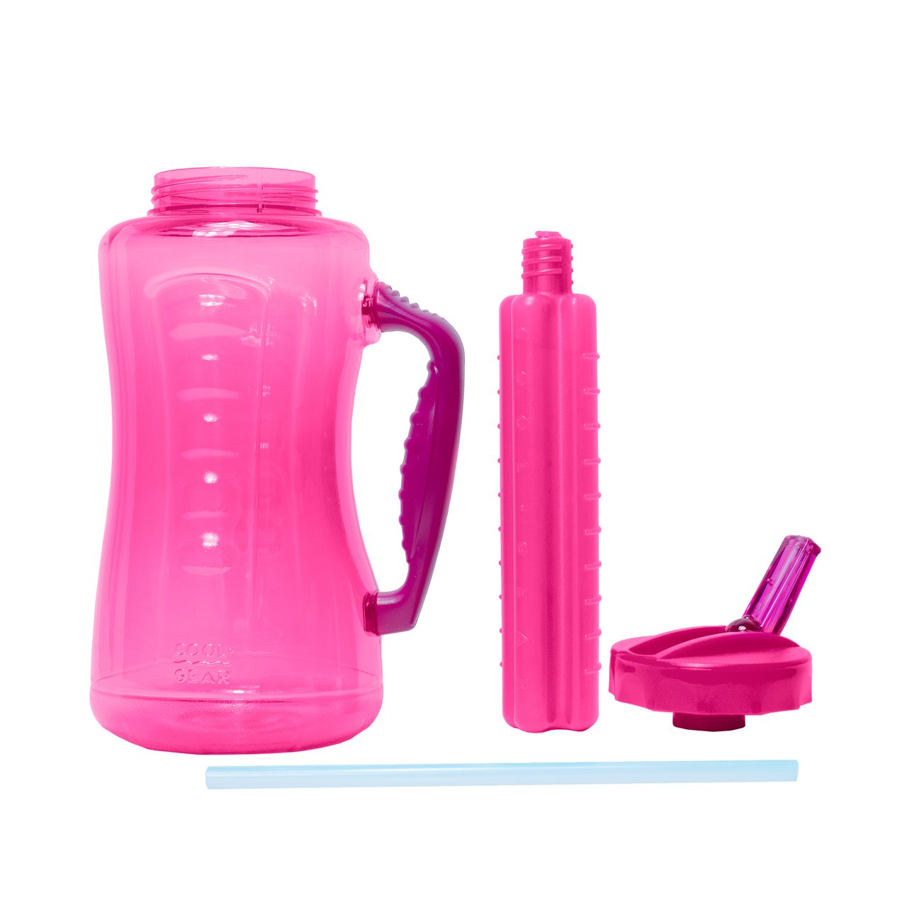 Cool Gear Big Swig EZ-Freeze Hydrate 64oz Water Bottle BPA Free with Twist and Lock Feature (Pink) by COOL GEAR