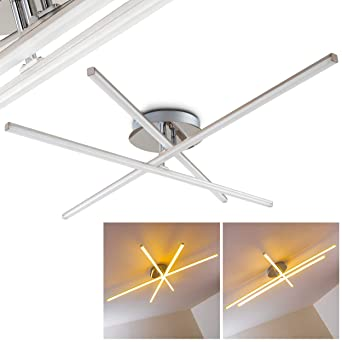 LED Deckenlampe Minimalistische Deckenleuchte Powassan U2013 3 Flammiger  Deckenspot U2013 Effektvolle Wohnzimmerlampe Aus Metall Mit