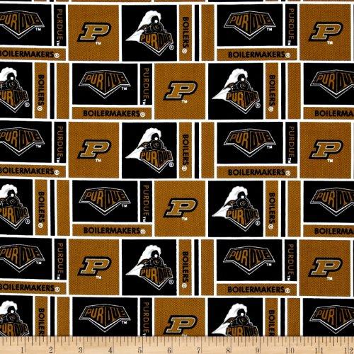 Collegiate Cotton Broadcloth Purdue University Gold -