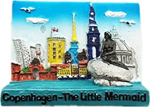Fridge Magnet Copenhagen Denmark Nordic 3D Resin Handmade Craft Tourist Travel City Souvenir Collection Letter Refrigerator Sticker