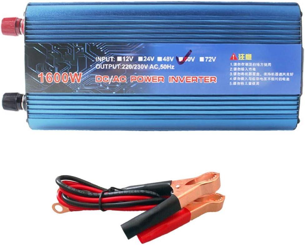 XBNBQ 1200W / 2200W Peak Car Power Inverter DC 12V / 24V a AC 220V USB Cargador Transformador convertidor para vehículo camión RV Pickup12V-1600W