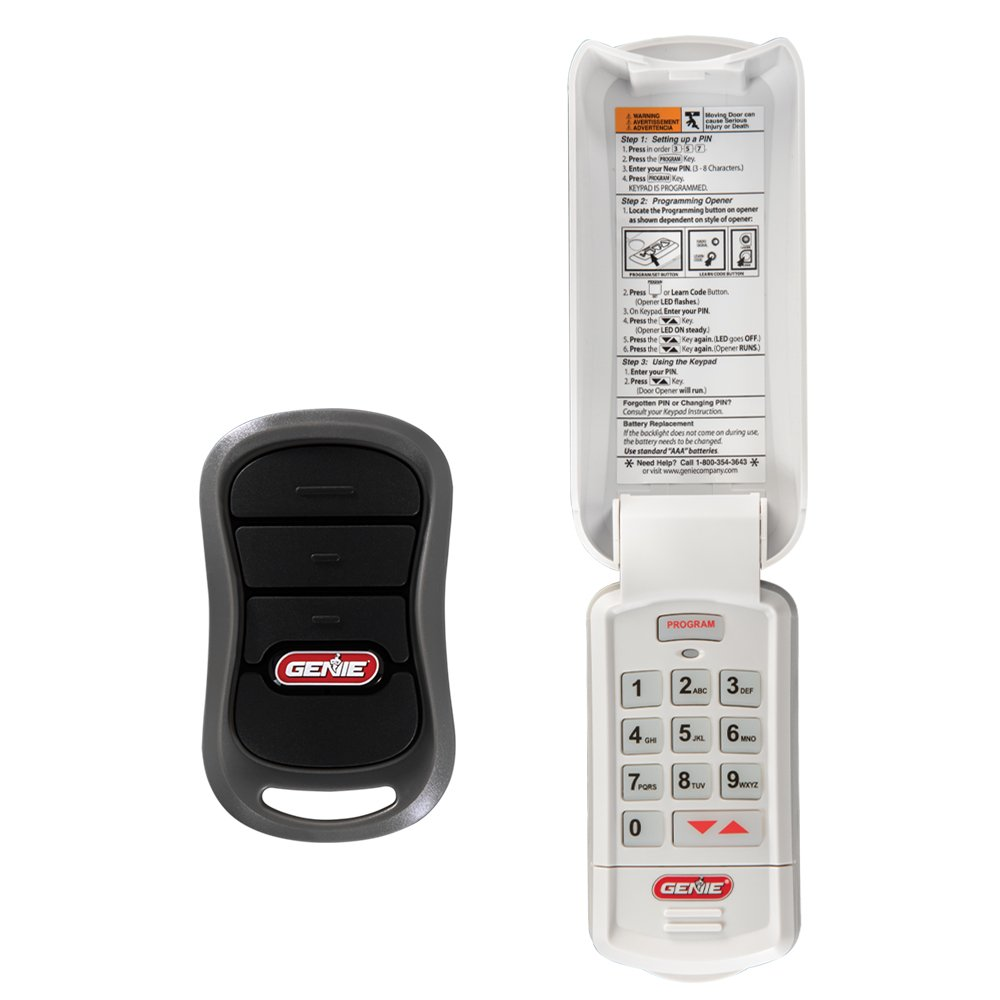 Genie Genuine Accessories Bundle - Combo Pack 3-Button Garage Door Opener Remote and Wireless Keypad - Works on Genie Intellicode Garage Door Openers - Model G3T-R, and GK-R by Genie