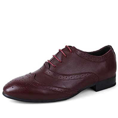 WENJHEN Herren Leder Schuhe Lace Up Toe Hochzeit Business Formal Kleid