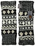 Muk Luks Women's Armwarmers, Dark Gray/Black, One Size