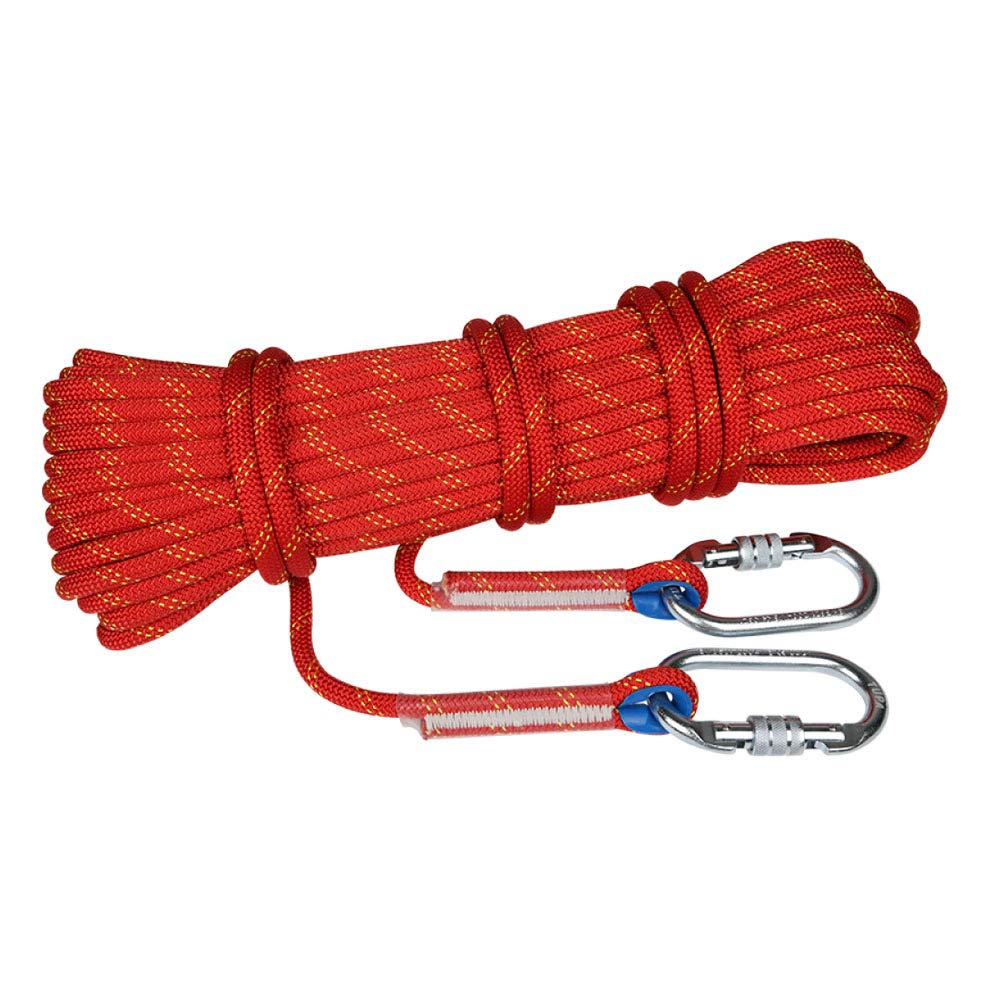 Rouge SWJ-Climbing Rope Top Corde d'escalade Résistant à l'usure à Haute Altitude Statique Statique Escalade Extérieure Rappel en Rappel,rouge-10m11mm 20m14mm