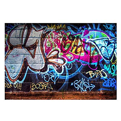 FUT Newest Colorful Graffiti in the Wall Vinyl Backdrop Background for Wall Decor Studio Photography Television Backdrops 5x3ft/7x5ft