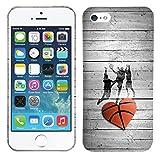 iPhone SE / 5 / 5S Case - Vintage Basketball Heart Hard Plastic Back Cover. Slim Profile Cute Printed Designer Snap on Case by Glisten