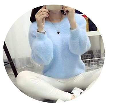 860b89afc0 Image Unavailable. Image not available for. Color  Spinning Women Sweaters  and Pullovers Cashmere Sweater Knitted Korean Winter Warm Pink Sweater  Jumper ...