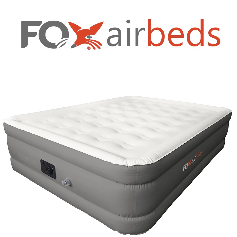 Top Rated Best Inflatable Bed By Fox Airbeds - Plush High Rise Air Mattress in King, Queen, Full and Twin (King)