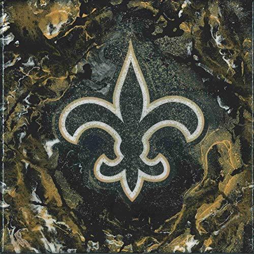 New Orleans Saints 10x10 Painted and Glazed Custom Art by Maithen Elizabeth #2