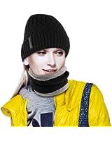 Pairy Winter Hat Scarf Set Warm Knit Hat For Men Women