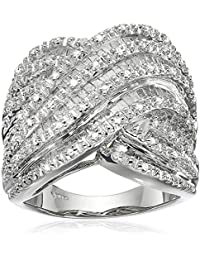 Sterling Silver Diamond Ring (1 cttw, I-J Color, I2-I3 Clarity)
