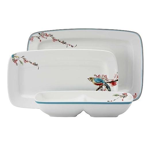 sc 1 st  Amazon.com & Amazon.com | Lenox Simply Fine Chirp Serve It Up: Platters: Platters