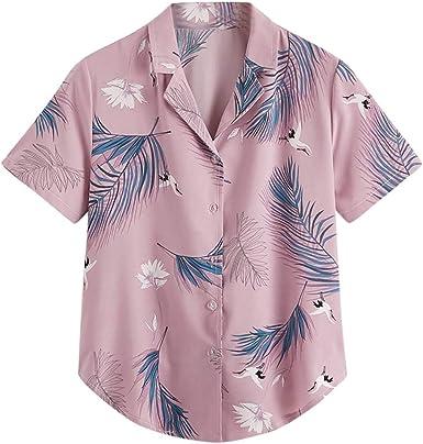 Poachers Camisas Mujer Manga Corta Camisetas Mujer Verano Tops Deportivo Mujer 3X Camisas Mujer Manga Larga Fiesta Elegantes Blusas para Mujer Verano 2019 Tops Mujer Sexy Blusas Mujer Boda: Amazon.es: Ropa y