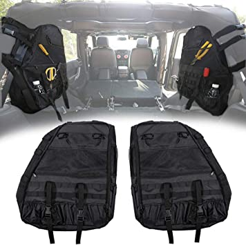 Voodonala Canvas Tailgate Cargo Storage Bag /& Tool Kit Organizer Pockets for 2007-2018 Jeep Wrangler JK JL Unlimited