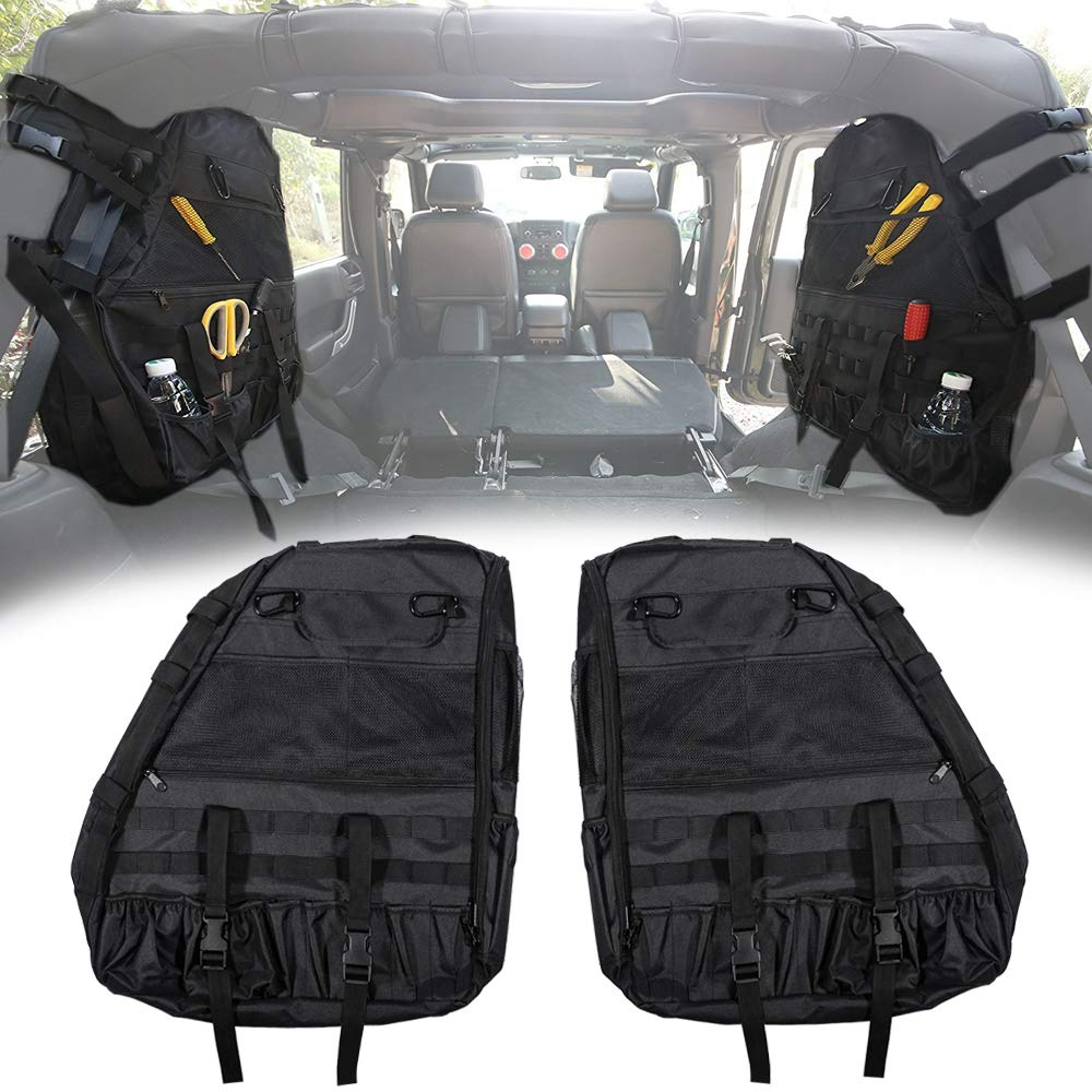 Opall Fits Jeep Wrangler Roll Bar Storage Bag Cage with Multi-Pockets & Organizers & Cargo Bag Tool Kits for Jeep Wrangler JL 2018 2019 by Opall