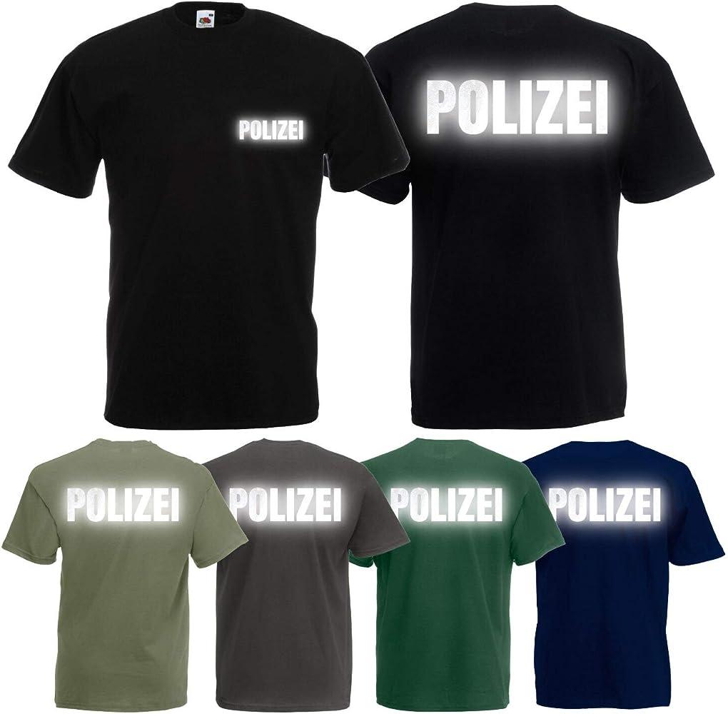 Shirt-Panda - Camiseta de policía para hombre, diseño con texto en alemán Azul oscuro (impresión blanca). S: Amazon.es: Ropa y accesorios