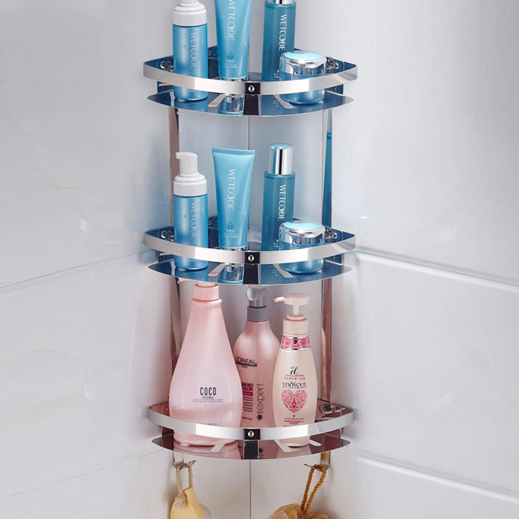 Shelf Rack- Badezimmer-Dreieck-Gestell, Wand-angebrachtes umweltfreundliches Edelstahl-Lagerregal, Blumen-Stand (größe   Three Layer)