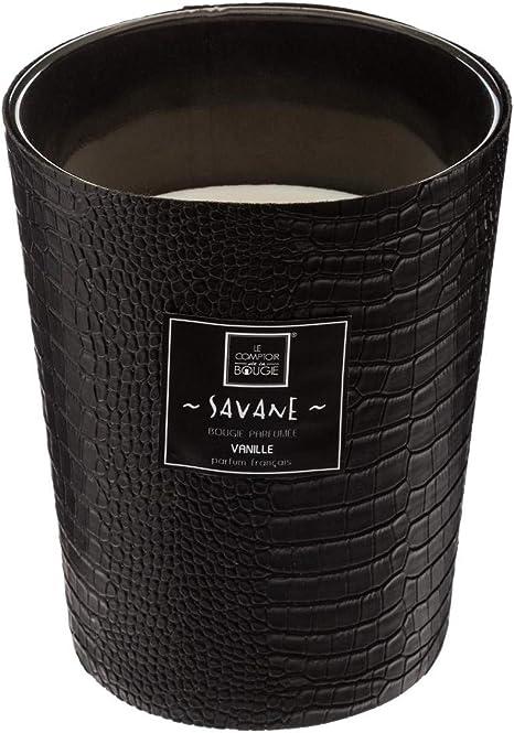Bougie Parfum/ée dans Pot en Verre Effet Crocodile Parfum Vanille 480G Atmosphera