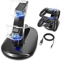 PS4 Controller Gaming Caricabatteria Dual USB Charging Docking Caricabatteria Docking Station Stand per Playstation 4 PS4 / PS4 Pro / PS4