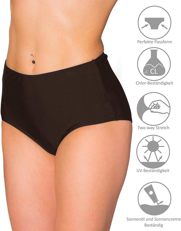 Aquarti Slip Bikini a Vita Alta per Donna