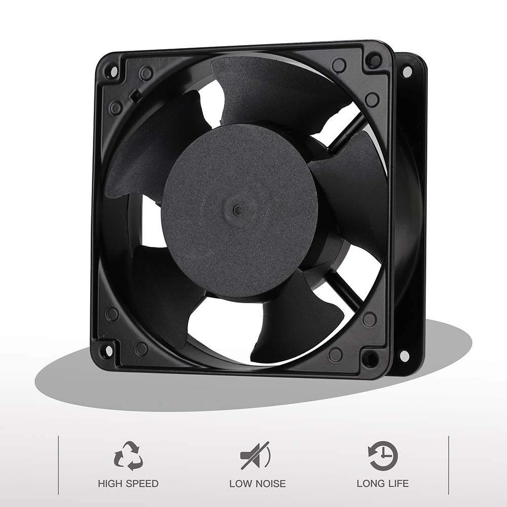 Zhanye Muffin 120x120x38 AC 120V Computer Axial Cooling Fan, High Speed with 3-feet Power Cord