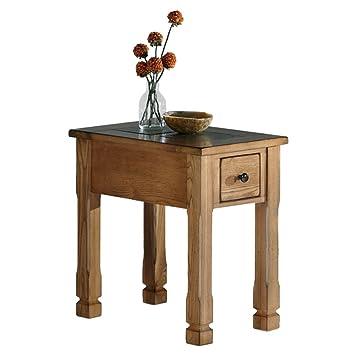 amazon com progressive furniture rustic ridge chair side table
