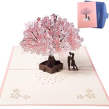 Nactech 3d Karte Hochzeitskarte Pop Up Karte Romantik Faltkarte