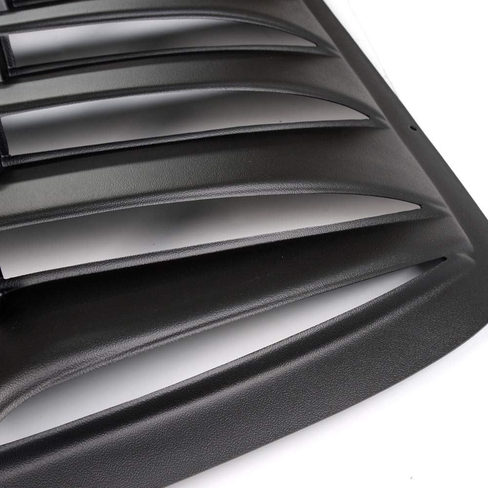 Window Louver for Chevy Cavalier//Sunfire 2 Door 1995-2003 Black ABS Rear Window Scoop Windshield Louver Sun Shade Cover Rain Guard