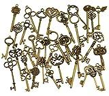 Best Keys - 36Pcs Extra Large Antique Bronze Finish Skeleton Keys Review