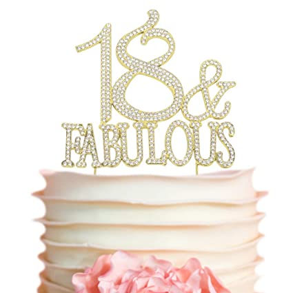Amazon.com  18 and Fabulous GOLD Cake Topper  e36b46bdafa4
