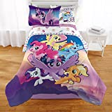 Adorable,Super Soft and Reversible My Little Pony Twinkle Adventure Bed in a Bag Set,Twin,Purple/Multicolor