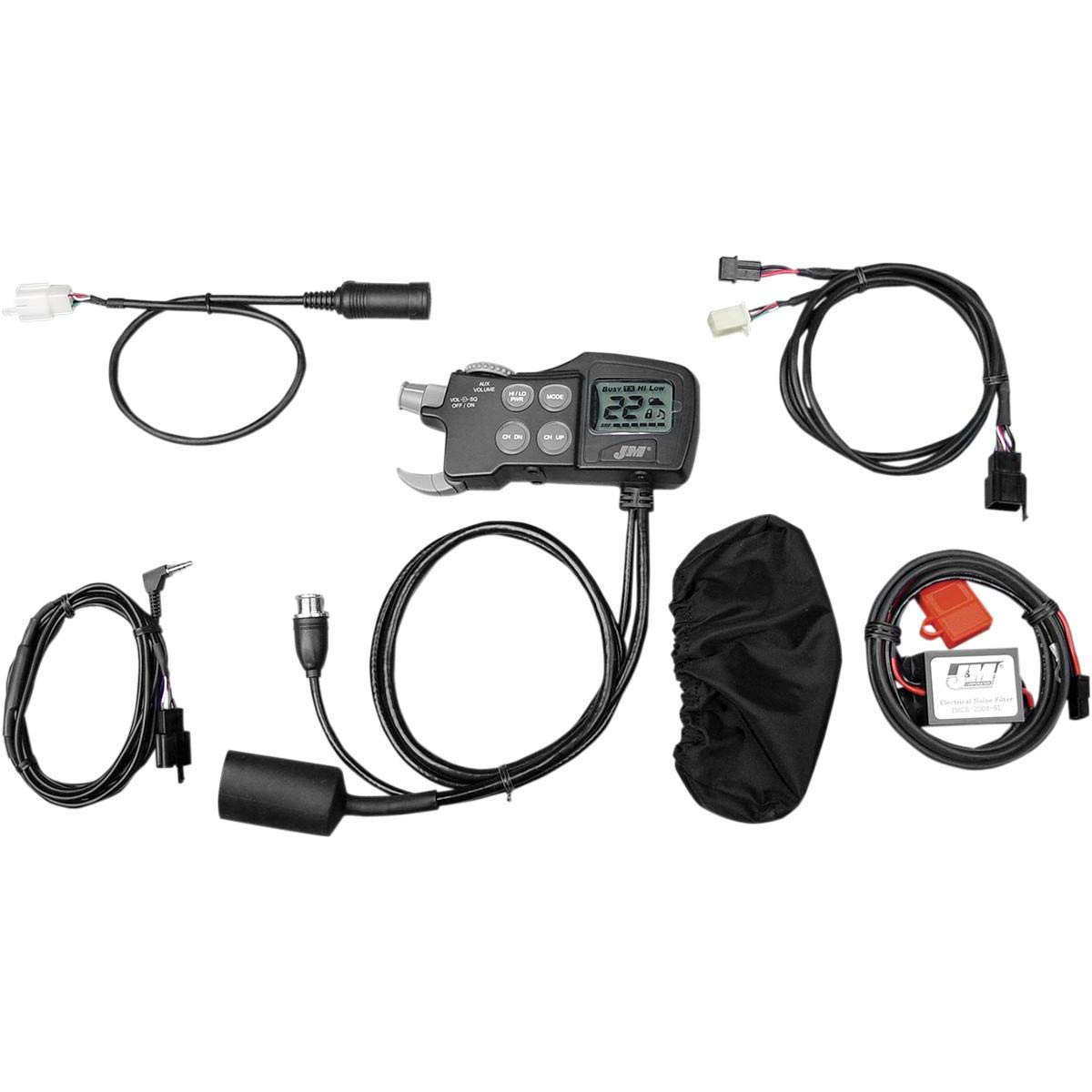 One Size J/&M JMCB-2003B-SL CB//Stereo//Intercom for Driver Headset Operation Audio System