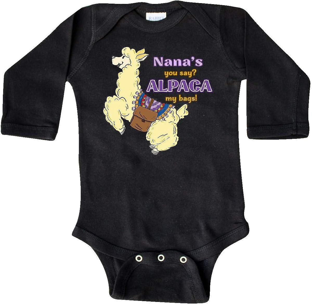 inktastic Cute Jumping Alpaca Nanas You Say Alpaca My Bags Long Sleeve Creeper
