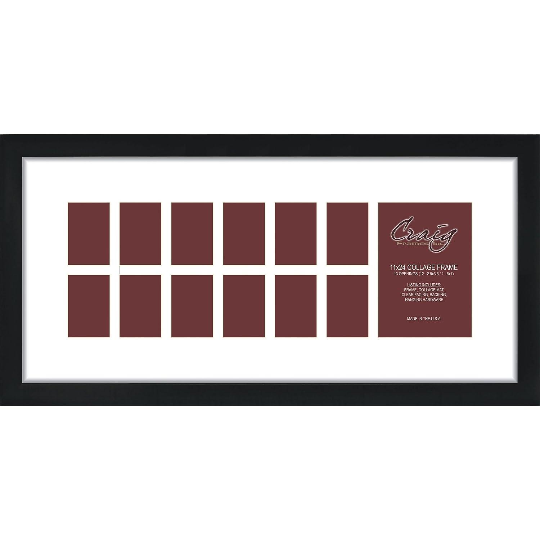 Amazoncom Craig Frames 1wb3bk 11 By 24 Inch Black Picture Frame