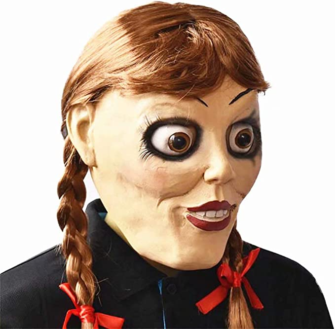 JinYiny Annabelle Disfraz Halloween Horror Miedo Vestido Blanco ...