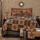 Teton Star Luxury King Quilt Bundle - 7 Piece Set. Set Contents: 1 Luxury King Quilt (105 x 120), 2 King Shams (21 x 37), 1 King Bed Skirt (80 x 78), 2 Euro Shams (26 x 26), 1 Pillow (16 x 16)