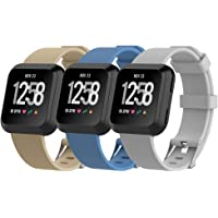 HWHMH Bands for Fitbit Versa - Adjustable Wristband and Wristwatch Style - Silicone Replacement Secure Band for Fitbit Versa