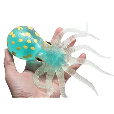"Ooey Gooey Octopus (ea) Giant 7"" Squishy Stress Toy (Colors Vary): Toys & Games"