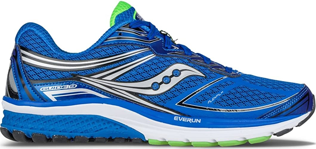 Amazon.com | Saucony Men's Guide 9 Running Shoe, Blue/Slime/Black