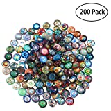 ROSENICE Round Mosaic Tiles Mixed for Crafts Mosaic Supplies Jewelry Making 200pcs 12mm