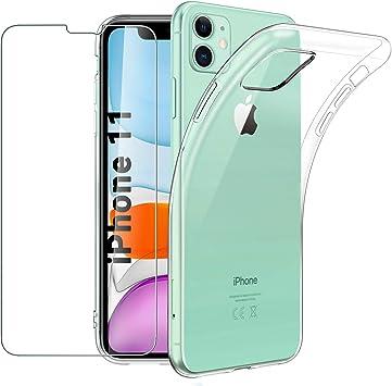 Habett Custodia iPhone 11 + Pellicola Vetro Temperato Trasparente