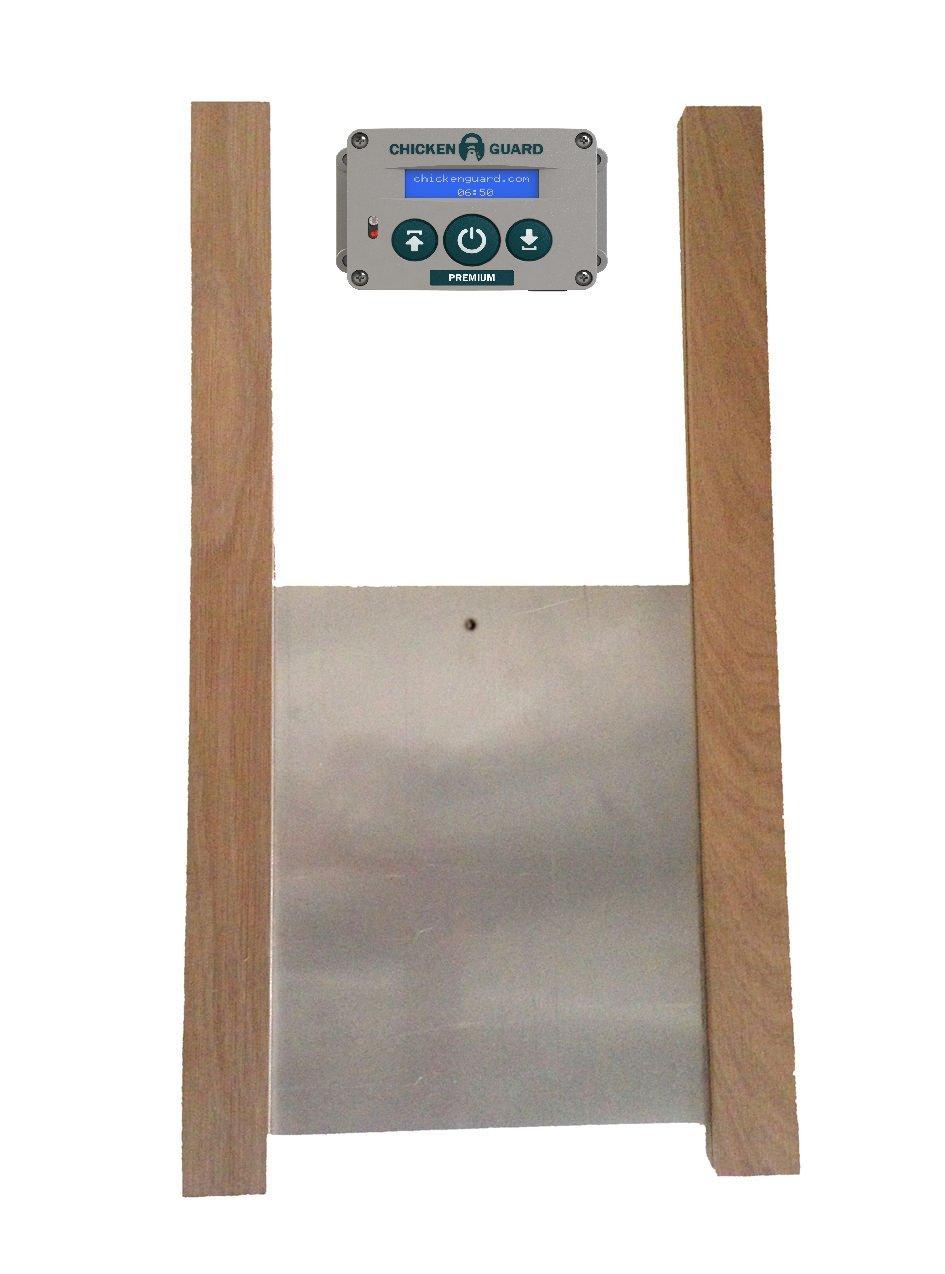 Premium Automatic Chicken Coop Pop Door Opener & Door Kit Combo | Outdoor / Indoor Auto Door Opener, Chicken Coop Accessories by ChickenGuard by ChickenGuard