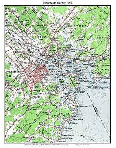 Amazon.com: Portsmouth Harbor 1956 Old Topographic Map USGS ...