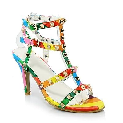 1To9 Sandales Pour Femme Multicouleur Multicolore, 32.5 EU, MJS00795