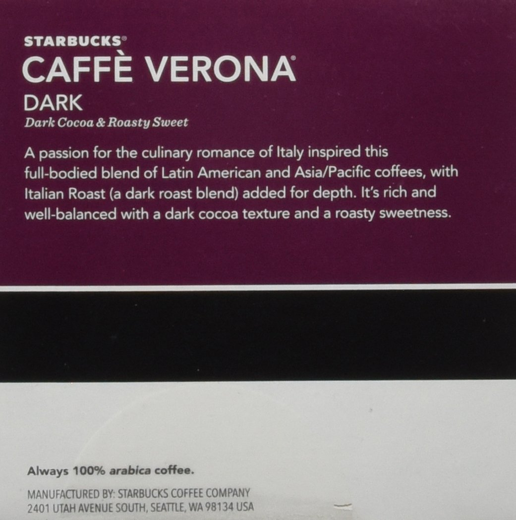 Starbucks Caffe Verona, K-Cup Portion Pack for Keurig K-Cup Brewers, 24 K-Cups (Pack of 2)