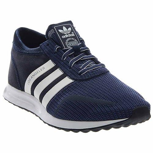Hombres Los Angeles En la Marina de Guerra de la Universidad/Blanca de Adidas, 9,5: Amazon.es: Zapatos y complementos