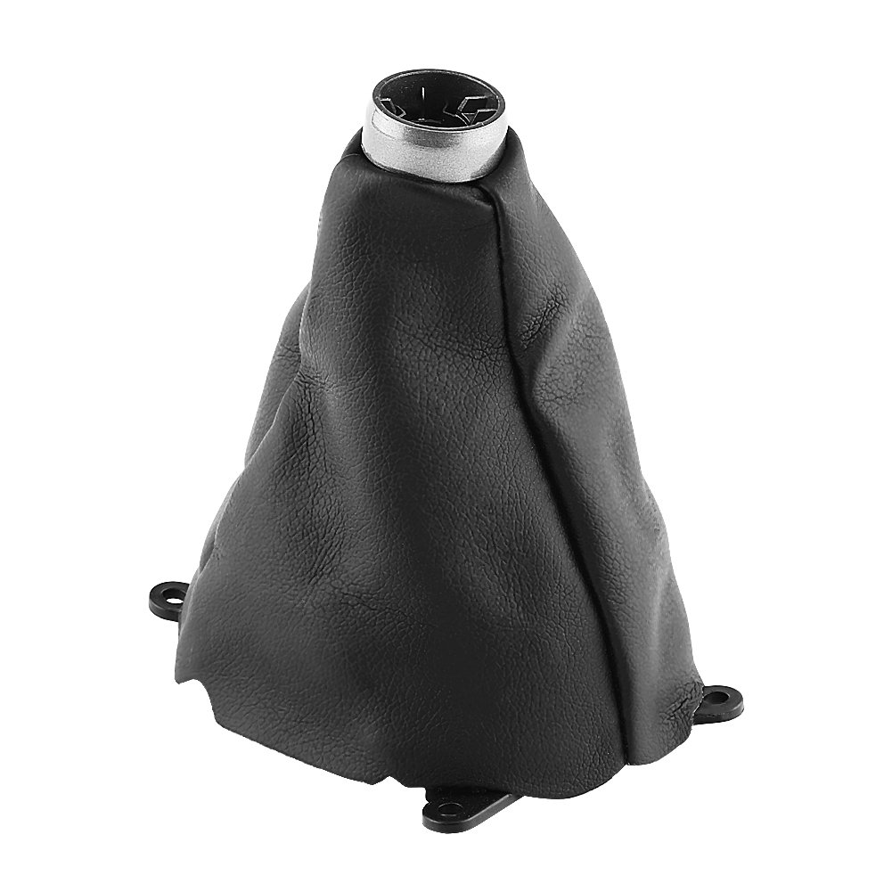 Car Shift Boot, EBTOOLS Car Gear Gaiter Shift Shifter Boot Knob Cover Manual PU Leather Fits Honda Civic 2006-2012(Black)