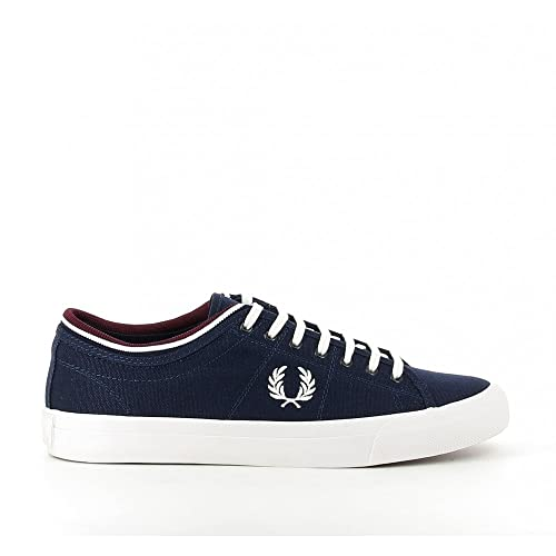 Fred Perry Woman Sneaker Kendrick Tipped Canvas White/Navy: Amazon.es: Zapatos y complementos