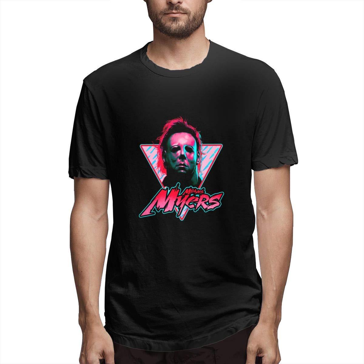 Michael Myers Stay Rad Custom T Shirts Short Sleeve For Man 6234